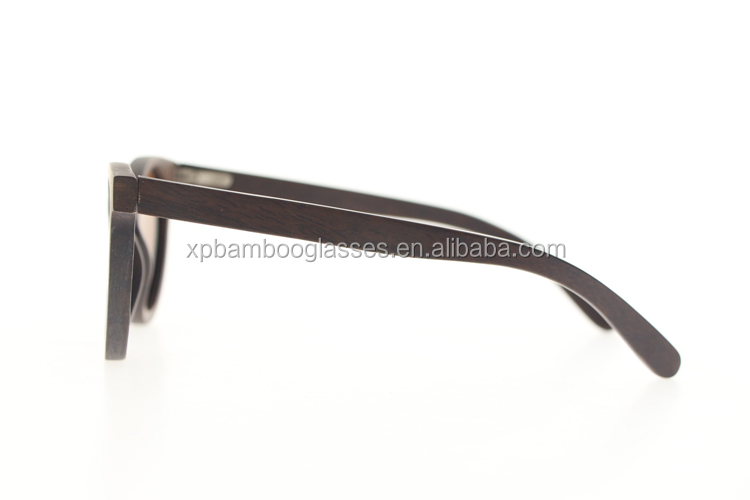 Cheap Quality Sun Glasses Polarized UV400 Round Wood Sunglasses For Men