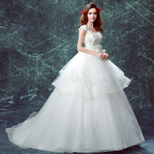 ZM16123 romantic french style wedding dress with big long train plus size ball gown wedding petticoat for pregnant women