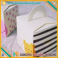 Top grade Welding paper board base with transparent PET lid wedding cake box food container
