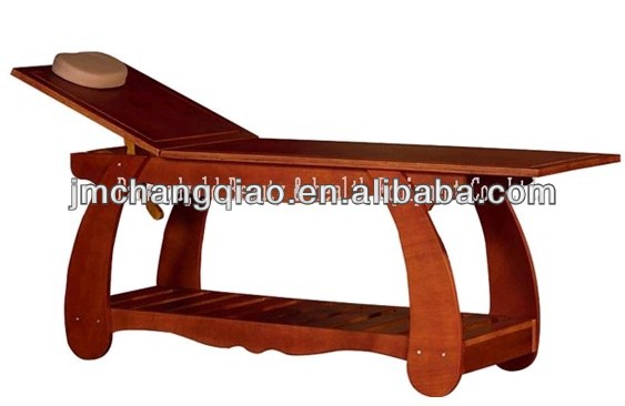 Retro style import solid wood spa furniture , lazy bed, adjustable wooden beauty bed , massage bed 100#