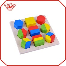 Play And Learn Natural Model Of Geometric Shapes Wooden Blocks