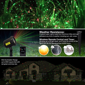 2017 Newest red and green outdoor indoor Christmas garden laser lights