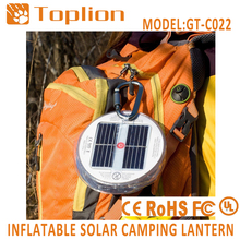 Hot selling inflatable solar lamp for emergency use rechargeable white color led light