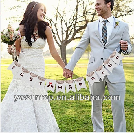 2016 latest Antique personality flag material wedding party decoration souvenirs