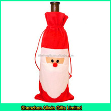 Christmas holiday decorative snowman wine bottle bag