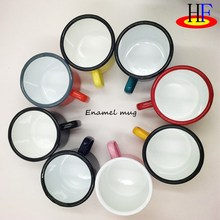 2018 trending products of outdoor camping enamel mug coffee mig <strong>cup</strong> with custom printing as christmas gift