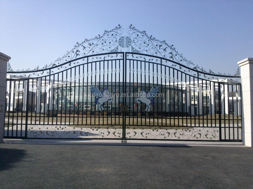 Beautiful decorative wrought iron fancy gates wholesale