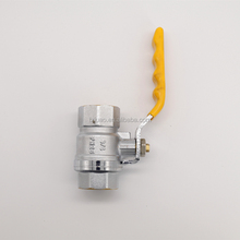 yellow high quality ball valve brass for gas