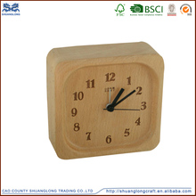 Antique small digital wooden table clock made in china ,wooden crafts wall clock