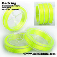 Chinese quality fly fishing line fluorescent yellow backing line