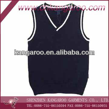 School Students' 50% Wool 50% Acrylic Anti-static Sleeveless Sweater