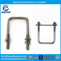 China Suppliers Stock ss316 Square U-Bolts With Nuts