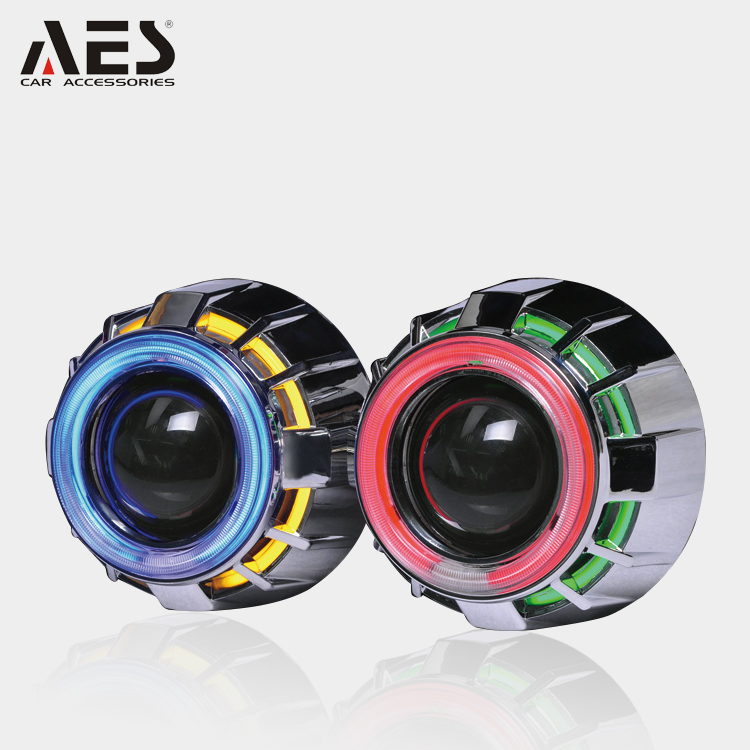 AES newest G1 auto headlight dual CCFL angel eyes 35W hid bi-xenon projector lens kit H1 bulbs headlamp light