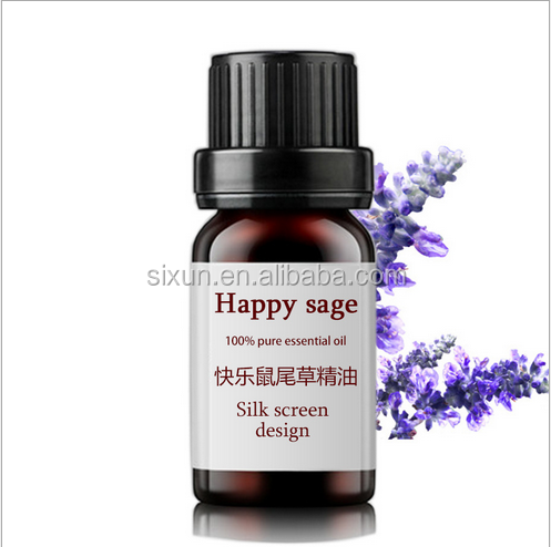 Calming nervous system reduce hot flushes pure Happy sage essential oil ginseng essential oil