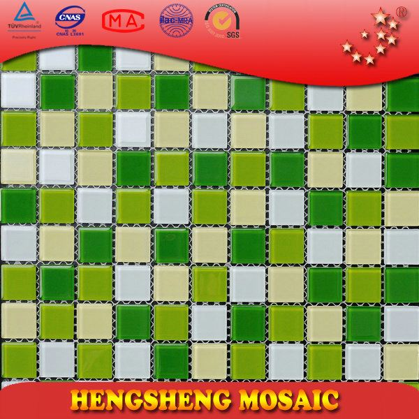 Anti-Slip Swimming Pool Bathroom Kitchen Crystal Glass Mosaic Tiles star black galaxy flooring tile