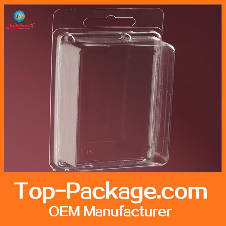 Double transparent clear clamshell blister packaging
