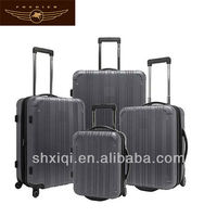 2014 striped abs pc luggage trolley