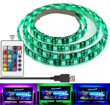 "35.4"" Led Strip Light Multi Color RGB Bias Lighting for HDTV USB Powered TV Backlighting Home Theater Accent Lighting"