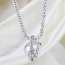 Latest Design Pearl Pendant Zircon Necklace Wholesale For Women Gifts