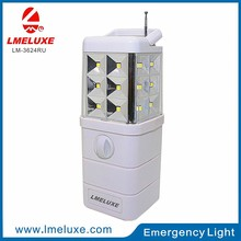 6V 24 LED Portable Emergency light with Radio and USB Output