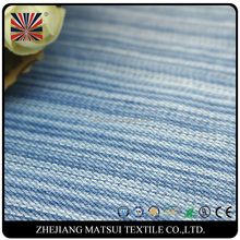 most cheapest price twill woven navy blue and white stripe fabric yarn dyed denim