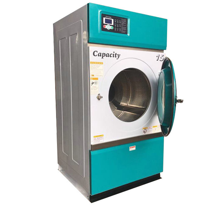 220v 60hz 1 phase LPG gas electric heating industrial tumble dryer 15kg wholesaler for dry clenaing shop and hotel