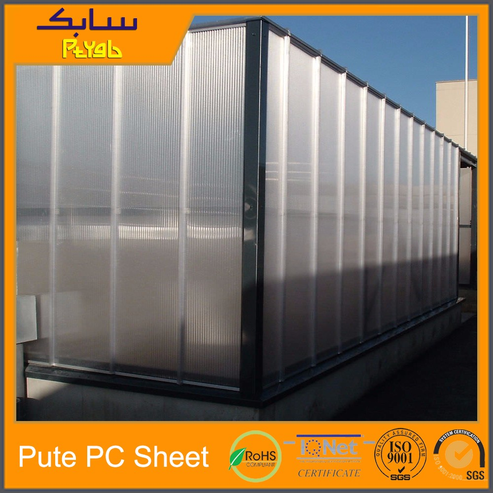polycarbonate glazing sheet clear roof wall covering hollow pc sheet cladding polycarbonate