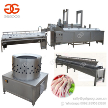 Trade Assurance Chicken Claw Cleaning Cutting Paws Skin Peeling Line Chicken Feet Processing Machine