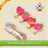 Wood crafts new product decorative wood clip paper clip 2016 fashion christmas alibaba china supplier