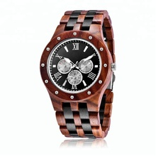 Wholesale Customized OEM Logo Quartz Mens Wrist Wood Watch