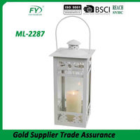 Christmas decoration modern new arrive indoor and outdoor metal lantern candle holder