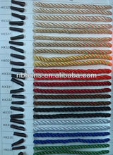gold&silver wire rope 8-strand plaited in fluorescence colour #18 nylon mason twine