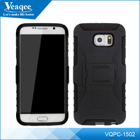 Veaqee 3 in 1 PC + TPU Armor double cell phone holster for Samsung s6