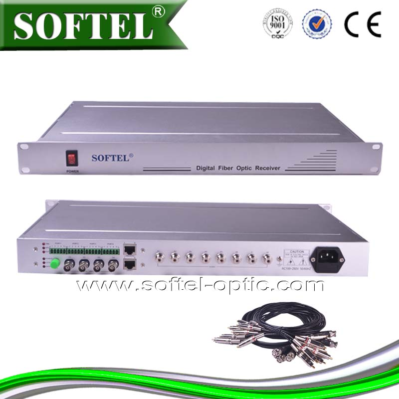 CATV video fiber optic transmitter and receiver