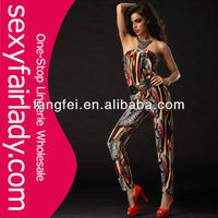 New arrival unique off shoulder lady jumpsuit
