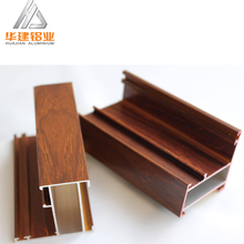 wood color aluminum window frames