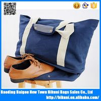 Shoulder casual multifunctional canvas travel tote storage bag with shoes compartment
