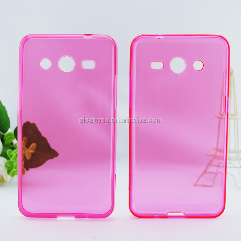 mobilephone clear gel tpu cover for samsung galaxy core 2 G355H