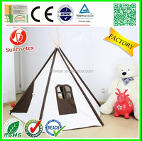 Eco friendly wood comfortable kids play tent house, canvas tent