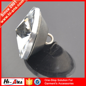 hi-ana button1 Top quality control Fancy glass crystal rhinestone shank button