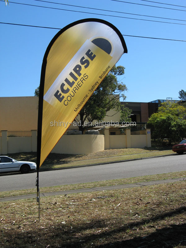 Outdoor Advertising Teardrop Banners