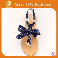 2015 OEM hot selling fancy design fashion summer flat beach sandals for girls women casual shoes DIY flat sandals