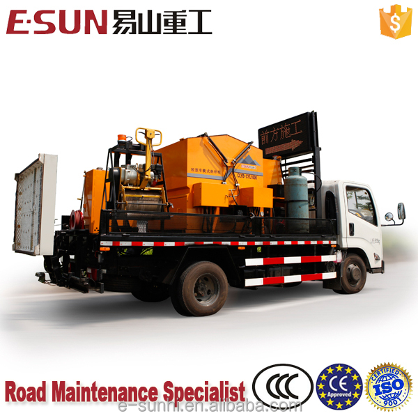 ESUN CLYB-CYL1000 1m3 integrated emulsion spray system asphalt hot box reclaimer