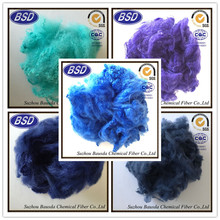 1.5D-20D colored polyester staple fiber for fabric and faux fur