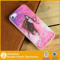 Lovely cartoon cover for iphone 5 beabtiful girl case,for iphone shell