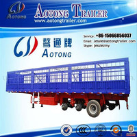 50Tons 3 axle Livestock Truck Semi Trailer for Sale /Stake Semi Trailer/Cattle Transport Trailer