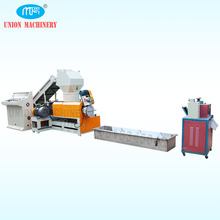 Waste Plastic Recycling 500 kg h PP PE Granules Machine with Hydraulic Screen Changer