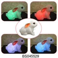 New arrival bunny rabbit multicolor changing LED night light for novelty gift