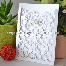 Best selling invitation card Europe design love themed white wedding laser cut wedding invitations