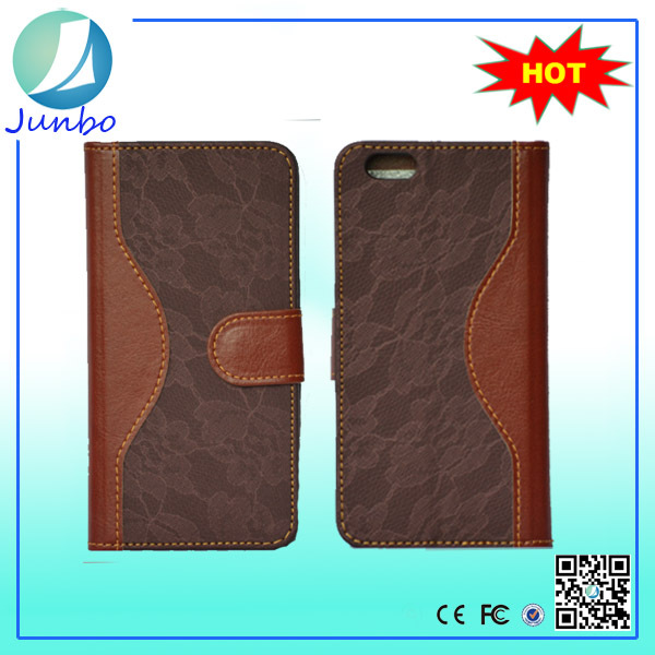 Best Discount Book Style Contrast Color Lace Wallet Flip Mobile case for iphone 5s